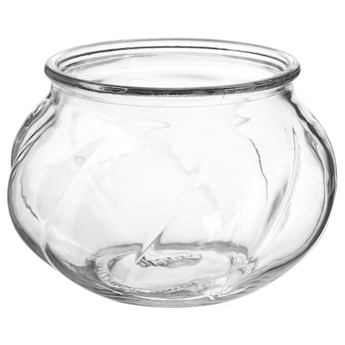 VILJESTARK vase clear glass 8 cm