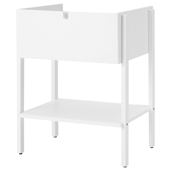 VILTO Wash-stand with 1 drawer, white