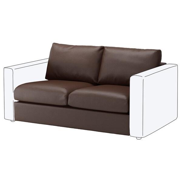 VIMLE 2-seat section Farsta dark brown 66 cm 141 cm 98 cm 80 cm 4 cm 141 cm 55 cm 45 cm