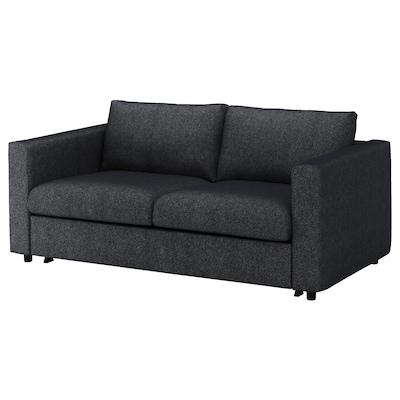 VIMLE كنبة-سرير بمقعدين, Tallmyra أسود/رمادي