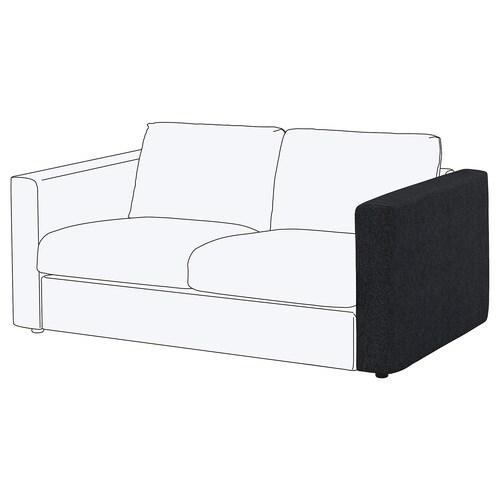 VIMLE armrest Tallmyra black/grey 68 cm 15 cm 93 cm