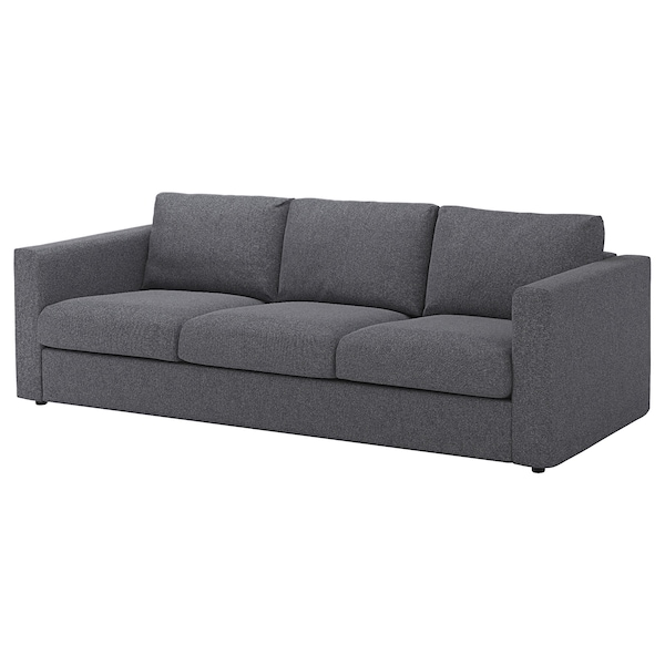 VIMLE Cover for 3-seat sofa, Gunnared medium grey
