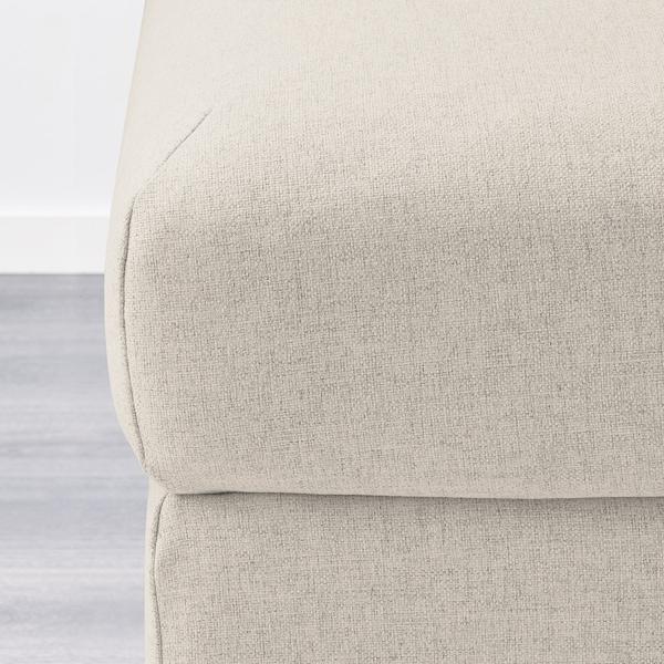VIMLE Footstool with storage, Gunnared beige