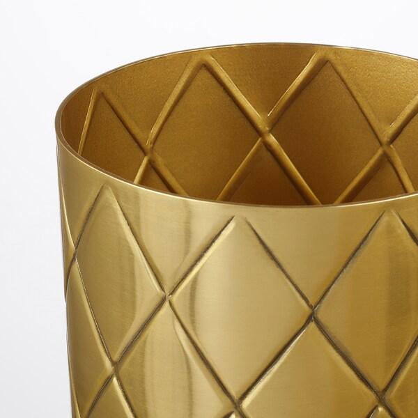 VINDFLÄKT vase gold-colour 11 cm