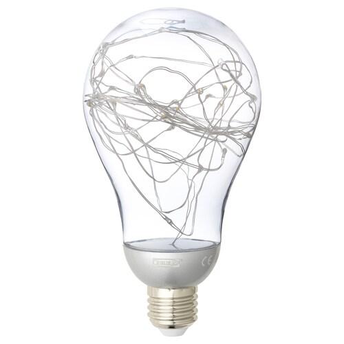 VINTERLJUS LED bulb E27 20 lumen silver-colour 5200 K 16.6 cm 90 mm 1 W