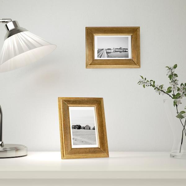 VIRSERUM Frame, gold-colour, 10x15 cm