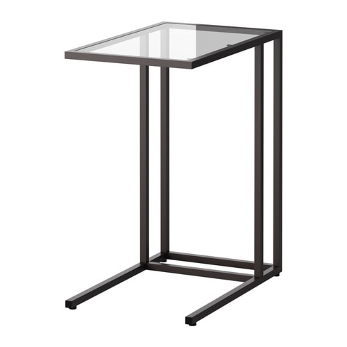 VITTSJÖ Laptop stand   Made of tempered glass and metal, hardwearing materials that give an open, airy feel.