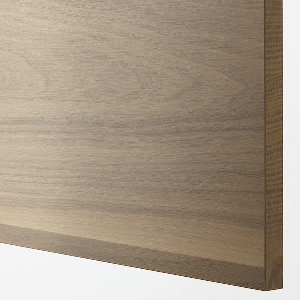 VOXTORP Cover panel, walnut effect, 39x86 cm