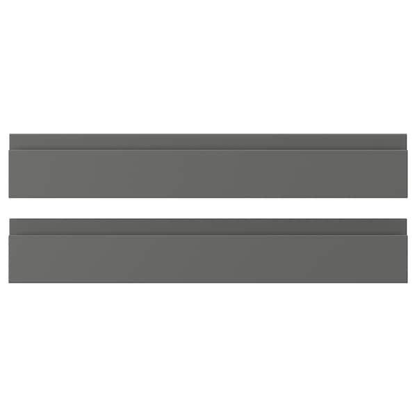VOXTORP واجهة دُرج, رمادي غامق, 60x10 سم