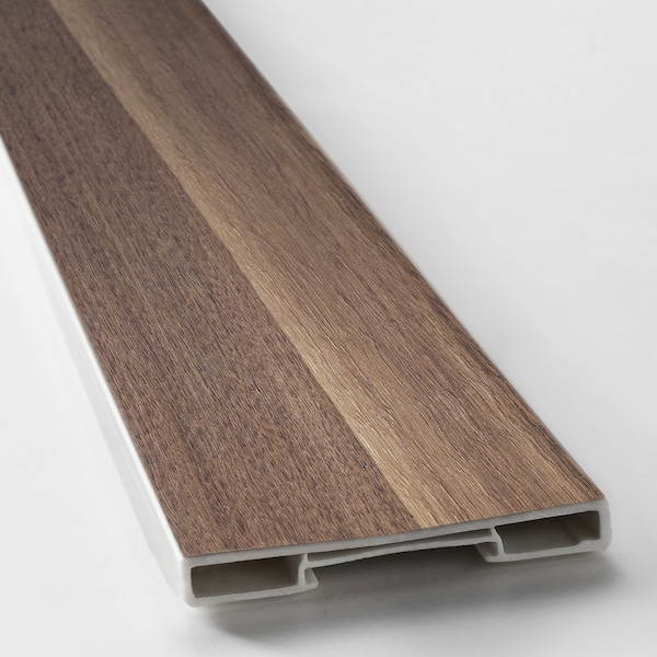 VOXTORP Plinth, walnut effect, 220x8 cm