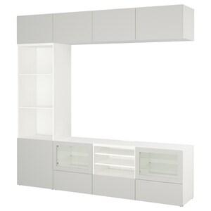 لون: أبيض lappviken/رمادي فاتح زجاج شفاف.