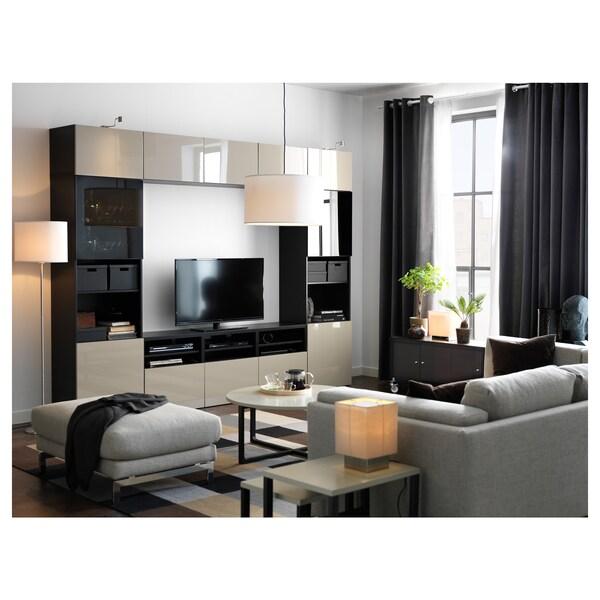 BESTÅ تشكيلة تخزين تلفزيون/أبواب زجاجية