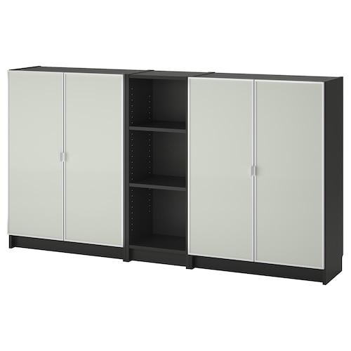 BILLY / MORLIDEN مكتبة أسود-بني 200 سم 30 سم 106 سم 30 كلغ