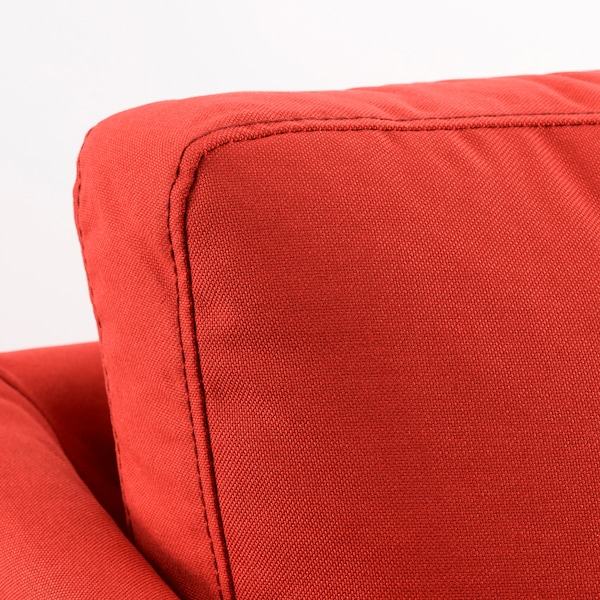 BRÅTHULT كنبة 3 مقاعد Vissle أحمر/برتقالي 212 سم 78 سم 69 سم 70 سم 42 سم