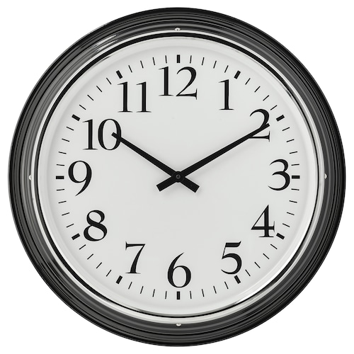 BRAVUR ساعة حائط أسود 8 سم 59 سم