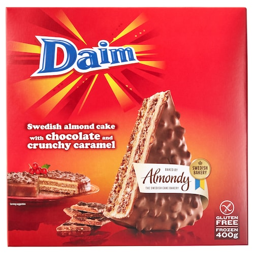 DAIM كيكة اللوز والشوكولاته مع الحلوى 400 غم
