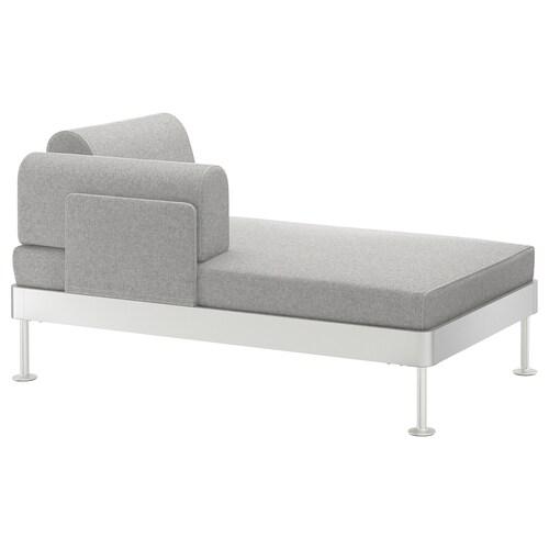DELAKTIG كرسي إسترخاء طويل ذو ذراعين Tallmyra أبيض/أسود 149 سم 84 سم 45 سم 20 سم 145 سم 80 سم 45 سم