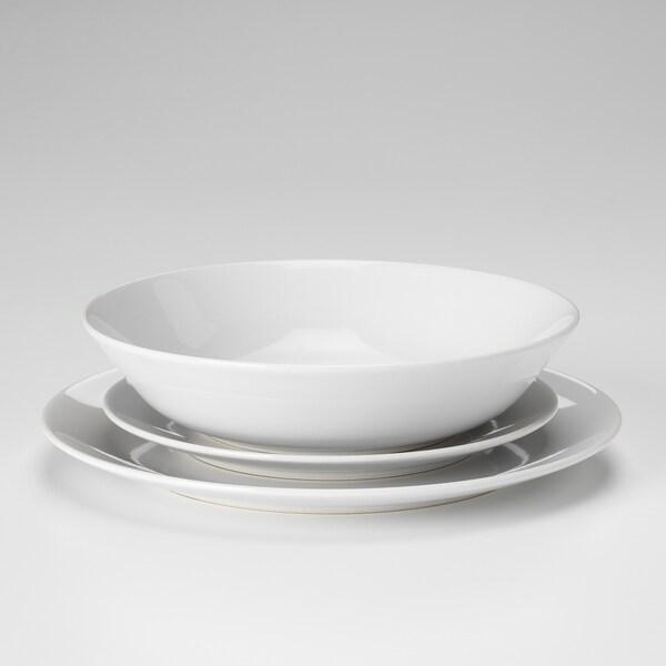 FLITIGHET طقم تقديم من 18 قطعة. أبيض