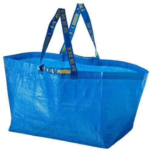 FRAKTA حقيبة حمل، كبيرة أزرق 55 سم 37 سم 35 سم 25 كلغ 71 ل