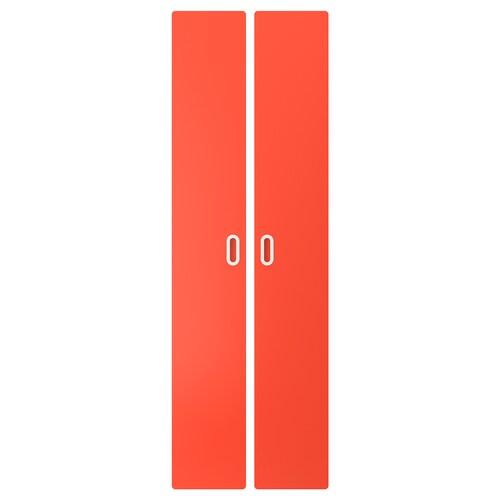FRITIDS باب أحمر 60.0 سم 192 سم 2 قطعة