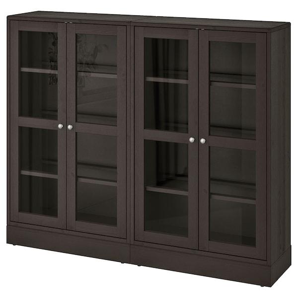 HAVSTA تشكيلة تخزين مع أبواب زجاجية
