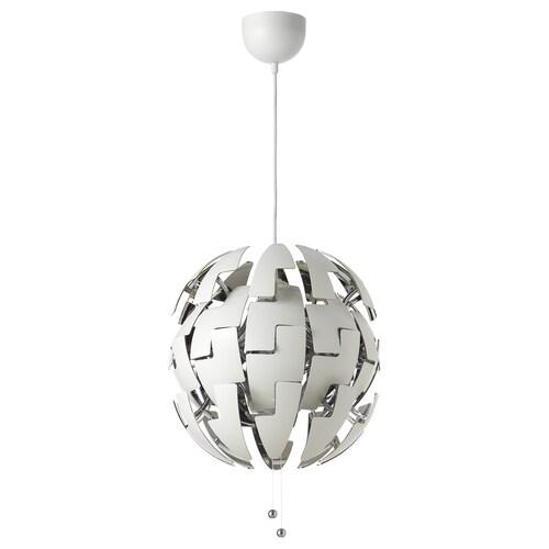 IKEA PS 2014 مصباح معلّق أبيض/لون-فضي 13 واط 35 سم 150 سم