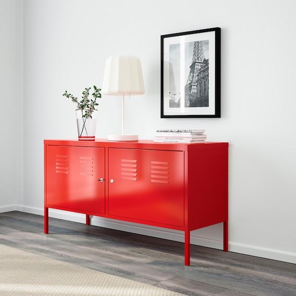 IKEA PS خزانة أحمر 119 سم 40 سم 63 سم 60 كلغ 20 كلغ