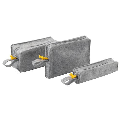 KNALLBÅGE حقيبة إكسسوارات، طقم من 3 لبّاد