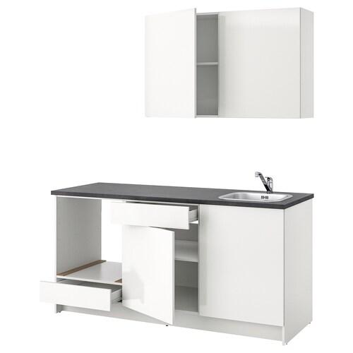 KNOXHULT مطبخ لامع/أبيض 180.0 سم 61.0 سم 220.0 سم