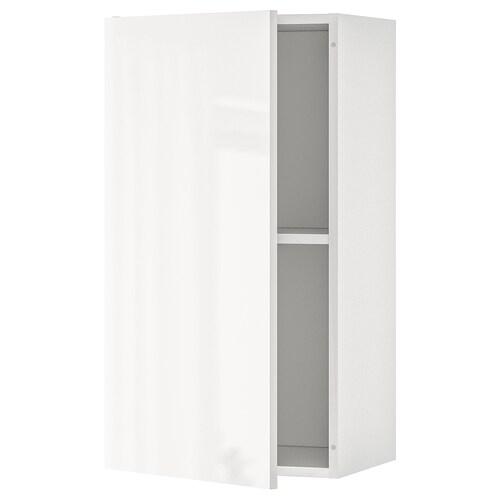 KNOXHULT خزانة حائط مع باب لامع أبيض 40 سم 31 سم 75 سم
