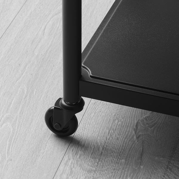 KORNSJÖ طاولة جانبية أسود 50 سم 35 سم 63 سم