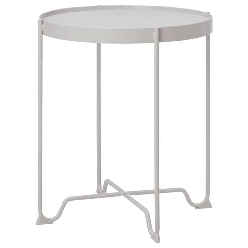 KROKHOLMEN طاولة جانبية، خارجية بيج 60 سم 50 سم