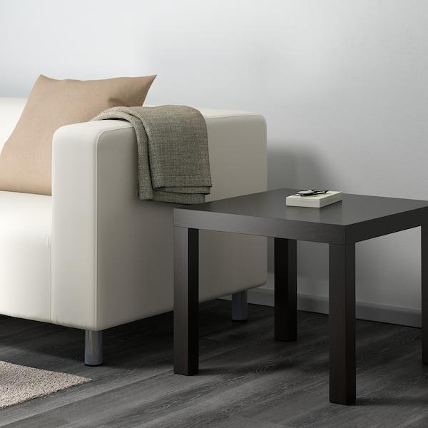 LACK طاولة جانبية أسود-بني 55 سم 55 سم 45 سم 25 كلغ