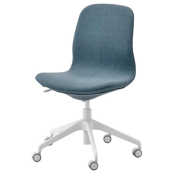 LÅNGFJÄLL كرسي مكتب Gunnared أزرق/أبيض 110 كلغ 68 سم 68 سم 92 سم 53 سم 41 سم 43 سم 53 سم