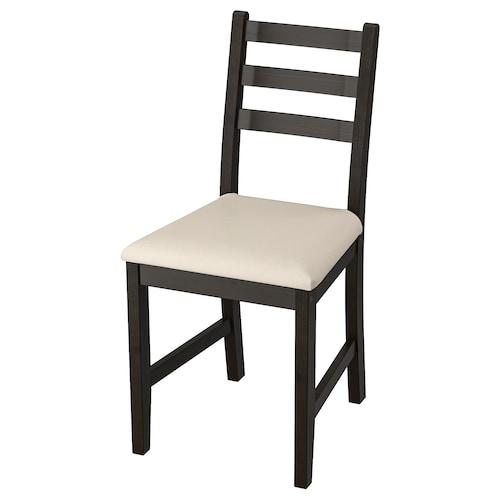LERHAMN كرسي أسود-بني/Vittaryd بيج 110 كلغ 42 سم 49 سم 85 سم 42 سم 38 سم 48 سم
