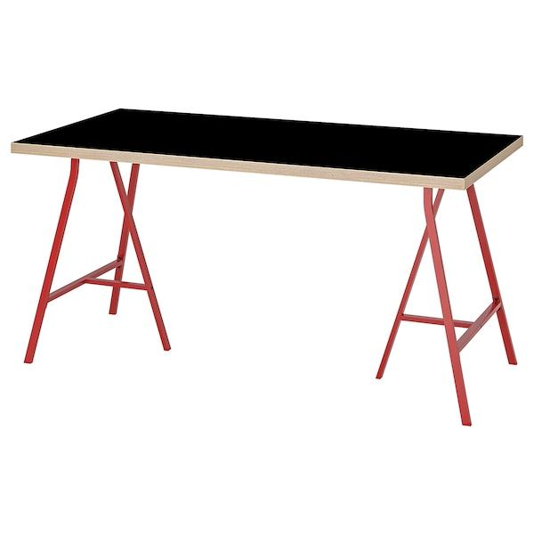 LINNMON / LERBERG طاولة أسود خشب معاكس/أحمر 150 سم 75 سم 74 سم 50 كلغ