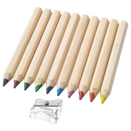 MÅLA قلم تلوين 12 سم 1 سم 10 قطعة