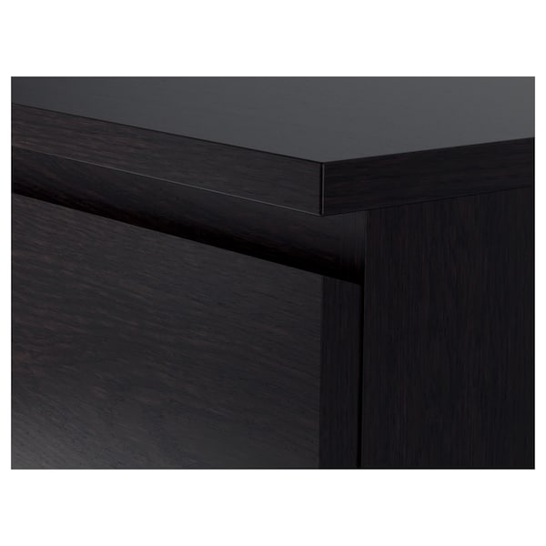 MALM خزانة بـ 3 أدراج أسود-بني 80 سم 48 سم 78 سم 72 سم 43 سم