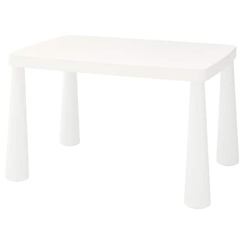 MAMMUT طاولة أطفال داخلي/خارجي أبيض 77 سم 55 سم 48 سم
