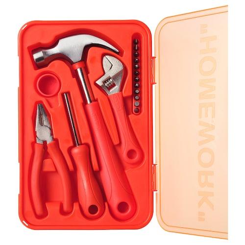 MARKERAD طقم أدوات 17 قطعة برتقالي