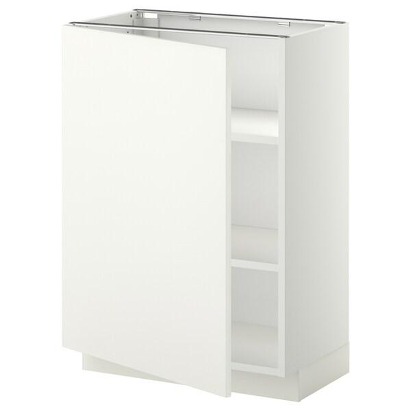 METOD خزانة قاعدة مع أرفف أبيض/Häggeby أبيض 60.0 سم 39.2 سم 88.0 سم 37.0 سم 80.0 سم