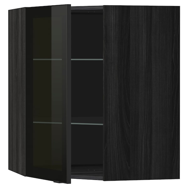 METOD خ. حائط زاوية+أرفف/ب. زجاجي