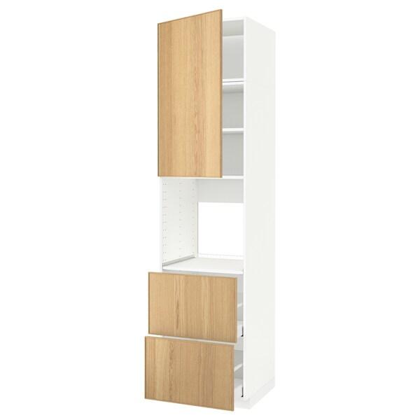 METOD / MAXIMERA خزانة مرتفعة للفرن+باب/2أدراج