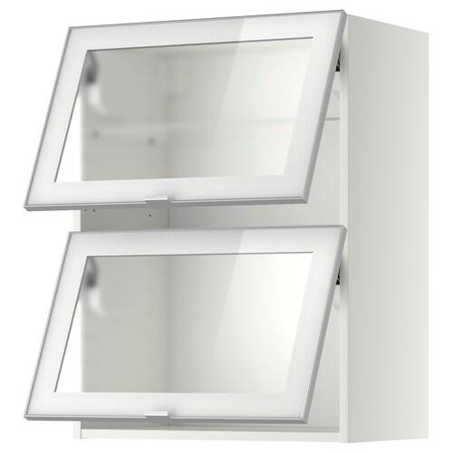 METOD خزانة حائط أفقية مع 2 أبواب زجاجية
