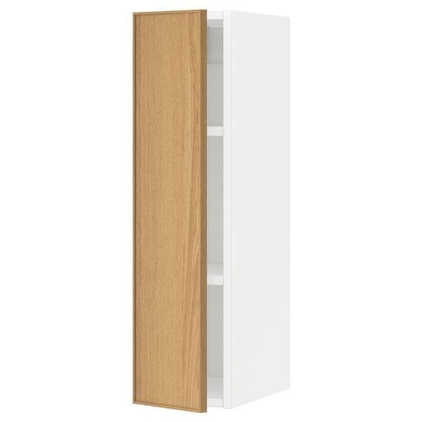 METOD خزانة حائط مع أرفف أبيض/Ekestad سنديان 20.0 سم 38.9 سم 37.0 سم 80.0 سم
