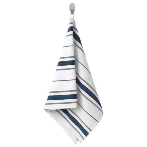OTTSJÖN منشفة يد أبيض/أزرق 100 سم 50 سم 0.50 م² 390 g/m²