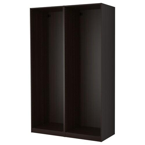 PAX هيكلي خزانة ملابس أسود-بني 149.6 سم 58.0 سم 236.4 سم