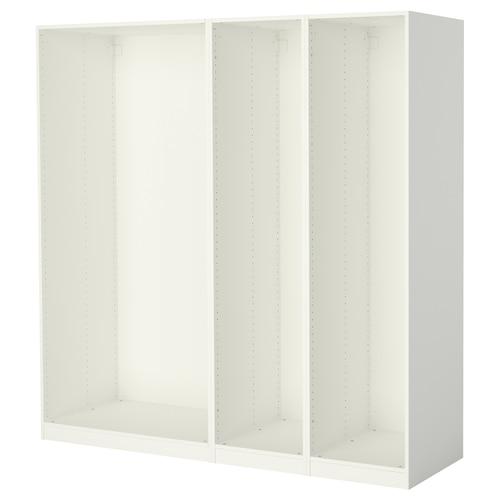 PAX 3 هياكل خزانة ملابس أبيض 199.6 سم 58.0 سم 201.2 سم