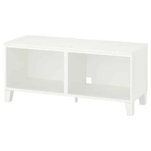 PLATSA طاولة تلفزيون أبيض/خشب 30 كلغ 120 سم 42 سم 53 سم