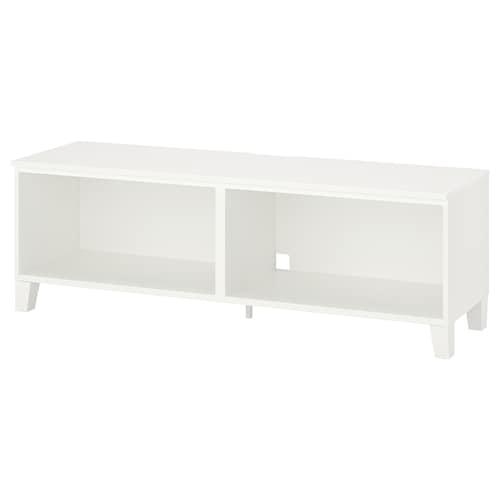 PLATSA طاولة تلفزيون أبيض/خشب 30 كلغ 160 سم 42 سم 53 سم